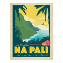 Visit Beautiful Na Pali, Hawaii Postcard