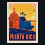 "Visit Beautiful Puerto Rico Postcard<br><div class=""desc"">Anderson Design Group is an award-winning illustration and design firm in Nashville,  Tennessee. Founder Joel Anderson directs a team of talented artists to create original poster art that looks like classic vintage advertising prints from the 1920s to the 1960s.</div>"