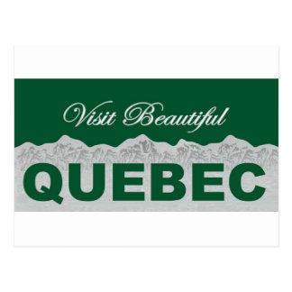 Visit Beautiful Quebec Postcard