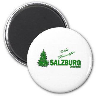 Visit Beautiful Salzburg, Austria 2 Inch Round Magnet