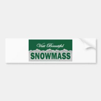 Visit Beautiful Snowmass Car Bumper Sticker