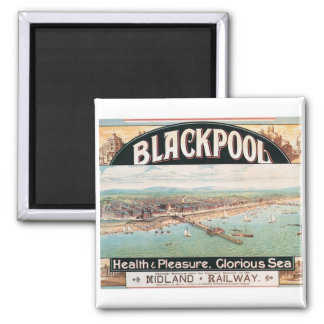 Visit Blackpool Poster Magnet