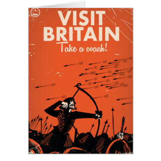 Visit Britain 'take a coach' vintage travel poster Card