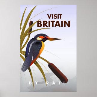 Visit Britain vintage travel poster. Poster