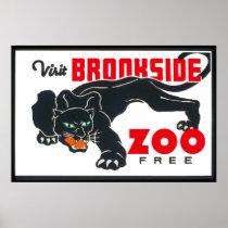 Visit Brookfield Zoo Vintage Poster