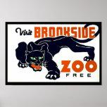 Visit Brookside Zoo Free - WPA Poster -