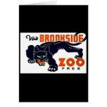 Visit Brookside Zoo Free - WPA Poster - Card
