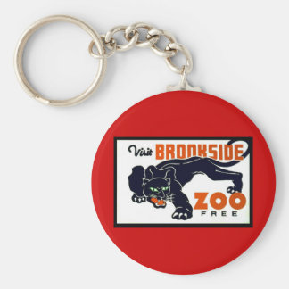 Visit Brookside Zoo Free - WPA Poster - Basic Round Button Keychain