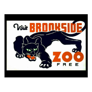 Visit Brookside Zoo Free - WPA Poster - Postcard