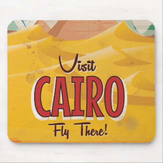 Visit Cairo Egypt vintage travel poster Mouse Pad