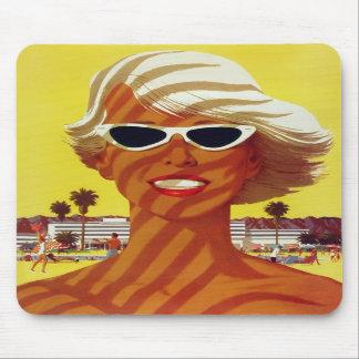 Visit California Vintage Travel Poster Mousepads