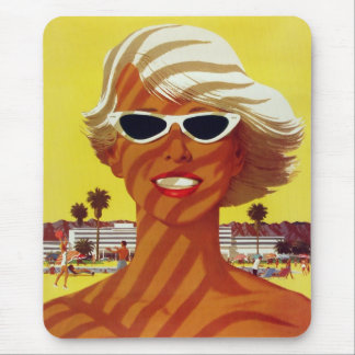 Visit California Vintage Travel Poster Mousepads