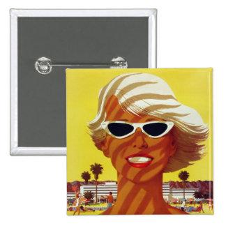 Visit California Vintage Travel Poster Pinback Button