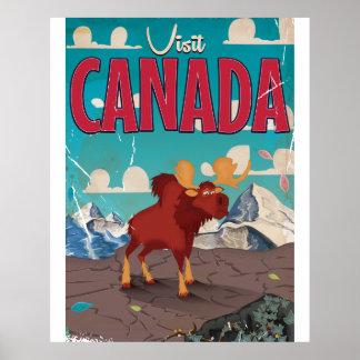 Visit Canada Cartoon travel poster