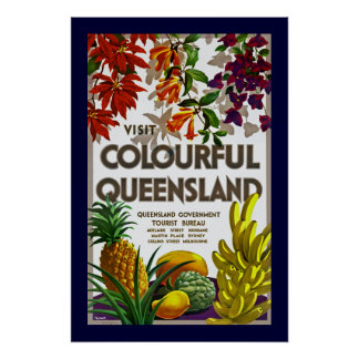 Visit Colourful Queensland Poster