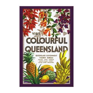 Visit Colourful Queensland - XL Canvas Print
