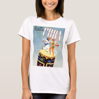 Visit Cuba Tiki Fiesta Siesta Vintage Holiday Isle T-Shirt