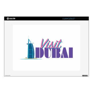 "Visit Dubai Decal For 15"" Laptop"
