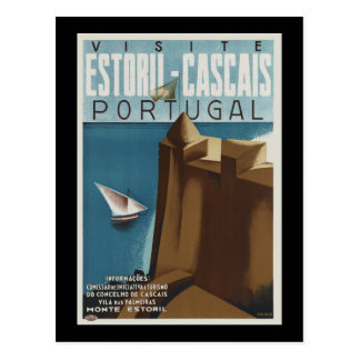 Visit Estoril-Cascais Portugal Postcard