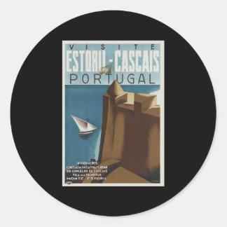 Visit Estoril-Cascais Portugal Classic Round Sticker