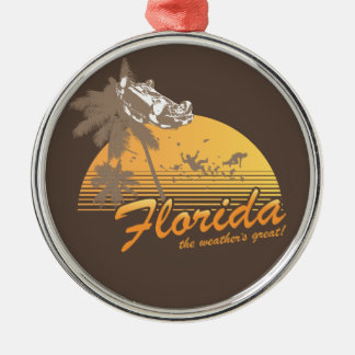 Visit Florida the Weather s Great - hurricane Christmas Tree Ornament