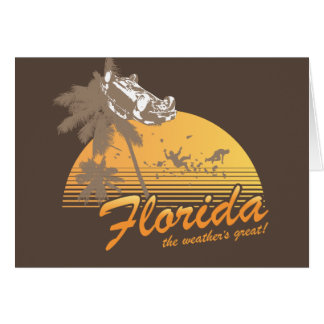 Visit Florida, the Weather's Great - hurricane Card