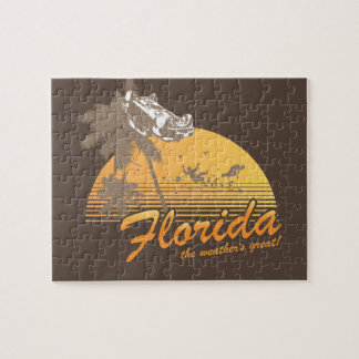 Visit Florida, the Weather's Great - hurricane Jigsaw Puzzles