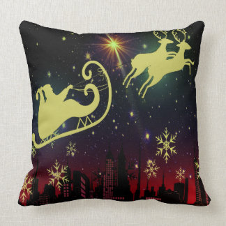 visit from st Nicholas Night Before Christmas Throw Pillow