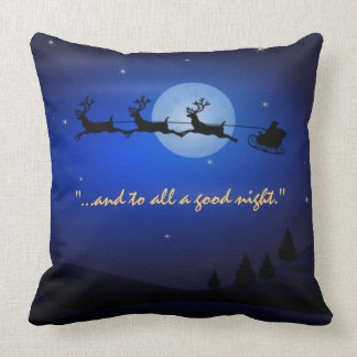Visit from st Nicholas Night Before Christms Throw Pillow