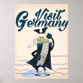 Visit Germany Vintage travel poster