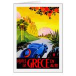Visit Greece ~ Vintage Automobile Travel Ad Greeting Card
