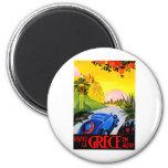 Visit Greece ~ Vintage Automobile Travel Ad Refrigerator Magnets