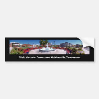 Visit Historic Downtown McMinnville Tennessee Car Bumper Sticker