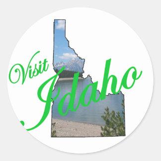 Visit Idaho Round Stickers