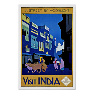 Visit India Asia Vintage Travel Poster