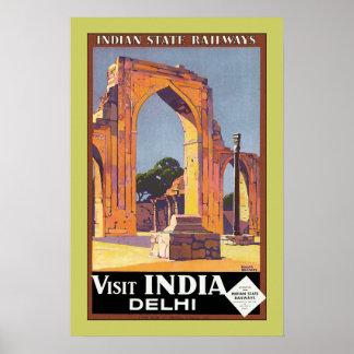 Visit India ~ Delhi Poster