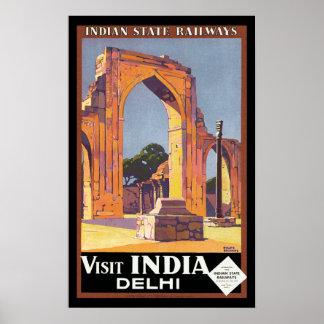 Visit India - Delhi Posters