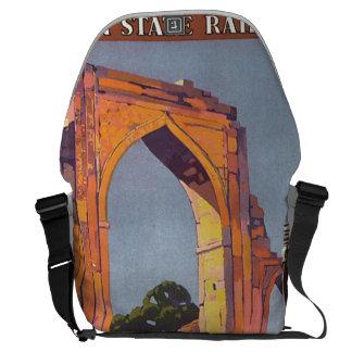Visit India Delhi Vintage Travel Poster Messenger Bag