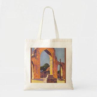 Visit India Delhi Vintage Travel Poster Tote Bag