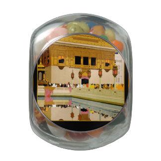 Visit India Glass Jar