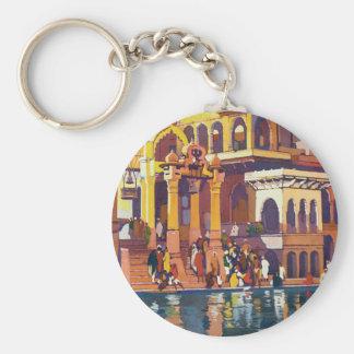 Visit India ~ Muttra Basic Round Button Keychain