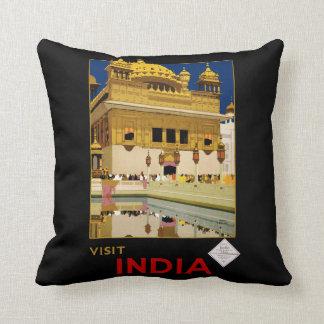 Visit India Throw Pillow