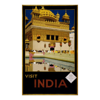 Visit India - Travel Poster