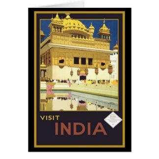 Visit India Vintage Travel Art Card