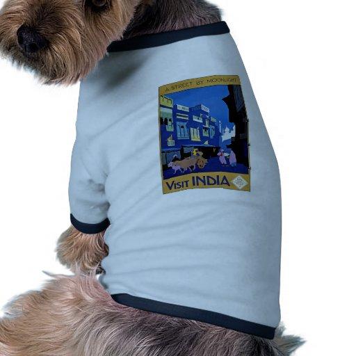 Visit India Vintage Travel Art Dog Clothes