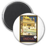 Visit India Vintage Travel Art Fridge Magnets
