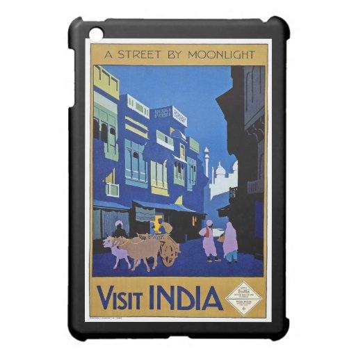 Visit India Vintage Travel Art iPad Mini Cover