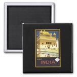 Visit India Vintage Travel Art Refrigerator Magnets