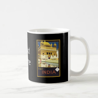 Visit India Vintage Travel Art Classic White Coffee Mug