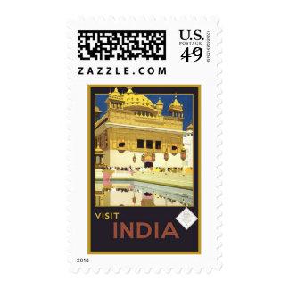 Visit India Vintage Travel Stamps